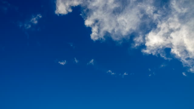 Time lapse of clouds over blue sky video