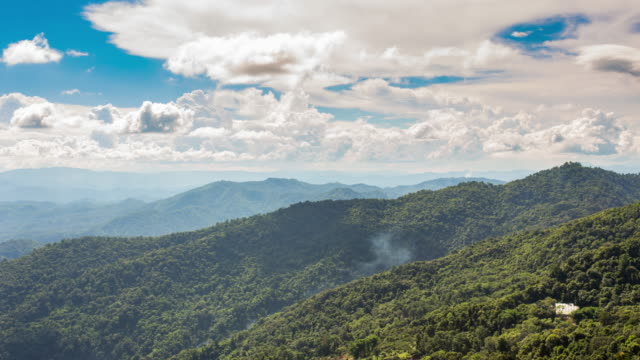 Time lapse of cloudscape over rainforest mountain video
