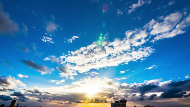 time lapse of cloudscape with bright sun shining with clouds passing. - god stock videos & royalty-free footage