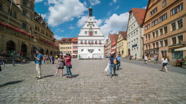 Time Lapse of Crowd walking at Downtown Rothenburg ODT, Germany video