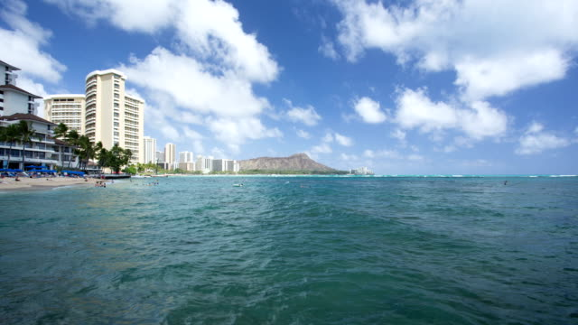 Time lapse of Diamond head Hawaii Time lapse of Diamond head Hawaii waikiki stock videos & royalty-free footage