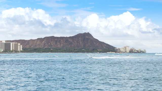 Time lapse of Diamond head mountain Hawaii video