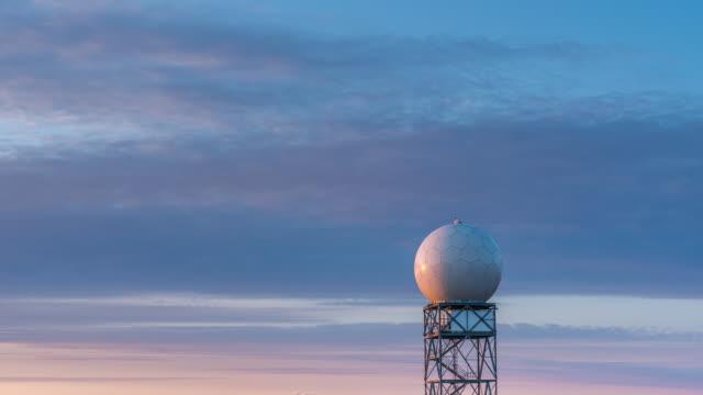 time lapse of Doppler radar station