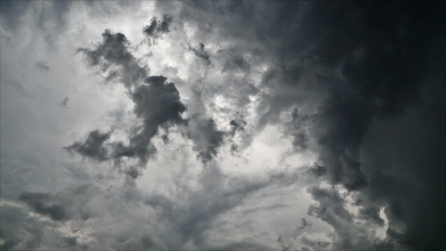 Time lapse of dramatic rain clouds video