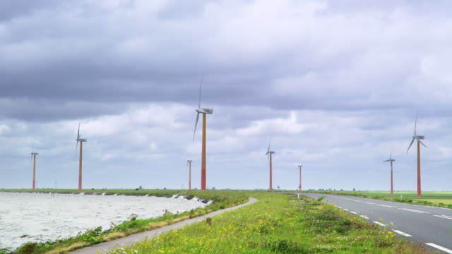 Time Lapse of Dutch windmills video