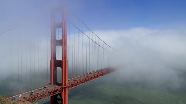 Time lapse of fog passing through the Goldn Gate Bridge