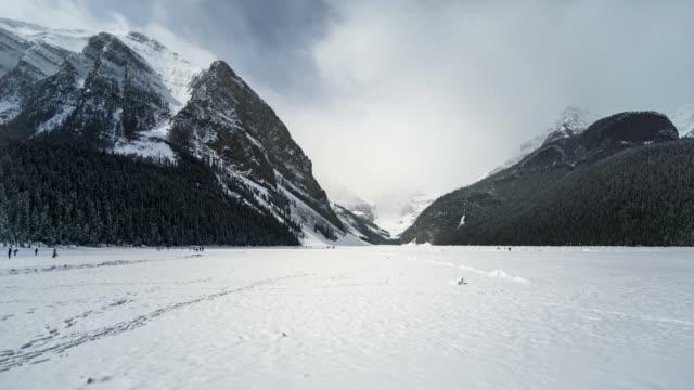 Time Lapse of Frozen Lake Louise Banff National park