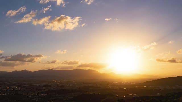 日本の福岡市のタイムラプス - 夜明け点の映像素材/bロール