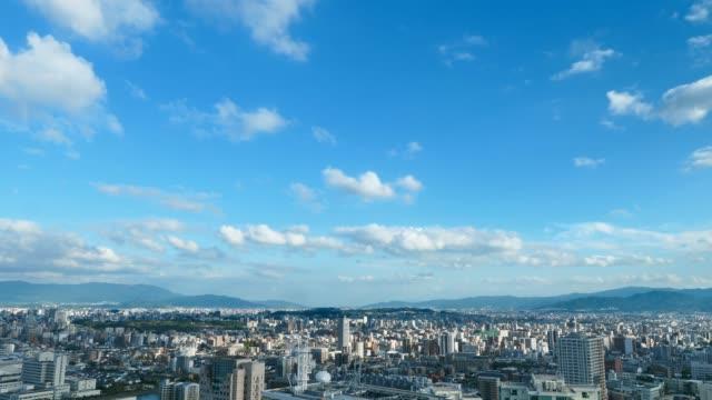 time lapse of Fukuoka city - video