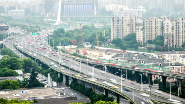 Time Lapse of Grade Separation bridge.NanJing,China. video