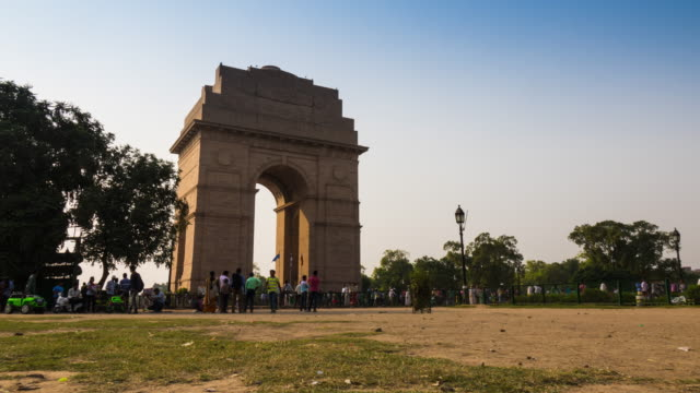 Time lapse of India Gate in New Delhi, India video