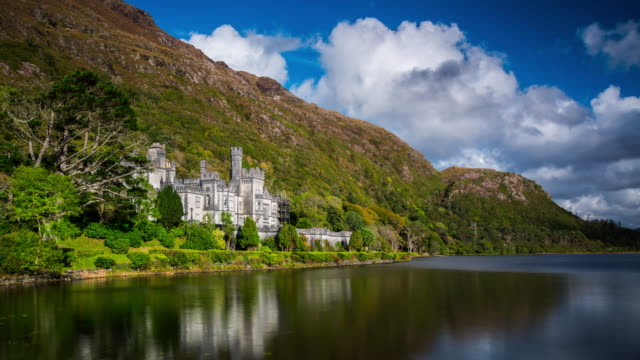 Time Lapse of Kylemore Abbey in Ireland video