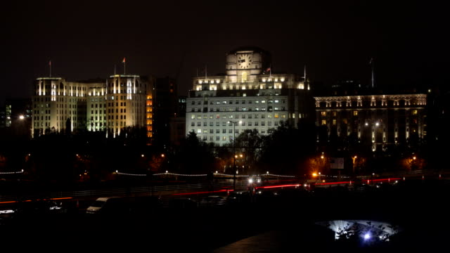 Time Lapse of London's Waterloo Bridge with Savoy Hotel video