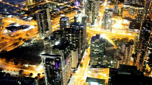 夜メルボルンの時間経過 - オーストラリア メルボルン点の映像素材/bロール