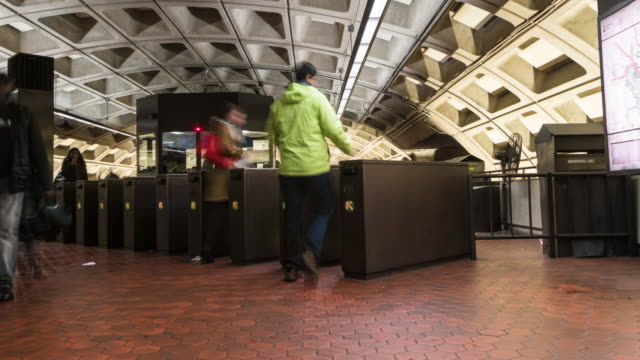 4K Time lapse of Metro Train Station, Washington DC, United States