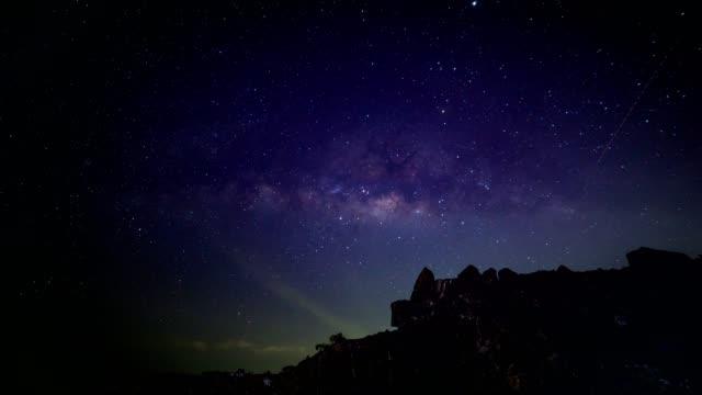 天の川銀河の時間の経過 - 斜めから見た図点の映像素材/bロール