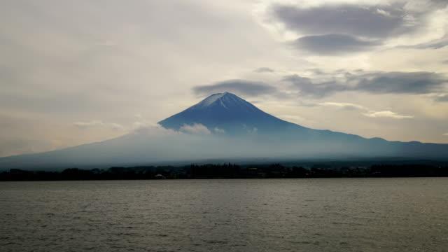 Time lapse of mount Fuji in sunrise from lake Kawaguchiko video