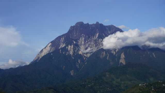 Time lapse of Mount Kinabalu and clouds video