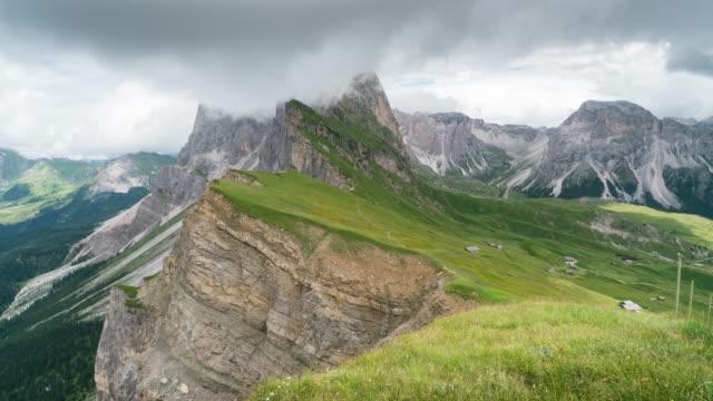 Zeit Ablauf des beweglichen Wolke am Secede, Dolomiten – Video