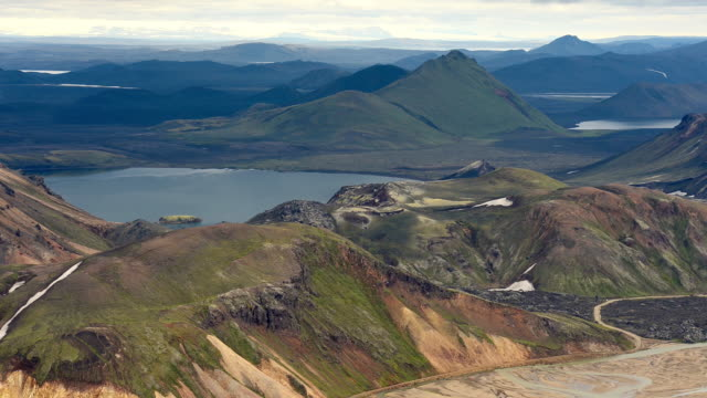 Time Lapse of Moving cloud over Landmannalaugar, Iceland video