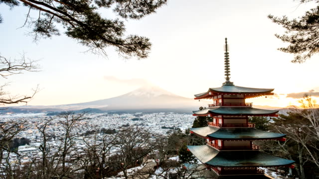 Time lapse of Mt Fuji - Stock Video - Stock Video video