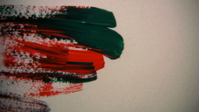 Time lapse of multi colored brush strokes on canvas video