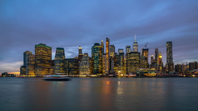 Time Lapse of New York cityscape Time Lapse of New York cityscape, United States, 4k clip day stock videos & royalty-free footage