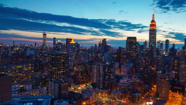 Time lapse of New York skyline video