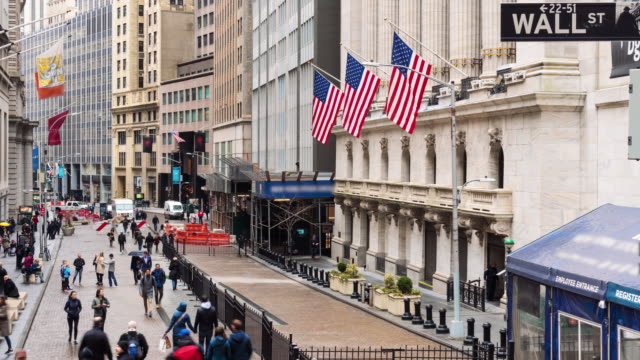 4K Time lapse of New York Wall Street, United States
