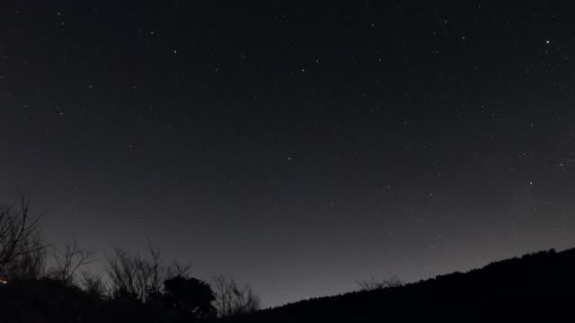 夜空のタイムラプス - 星型点の映像素材/bロール