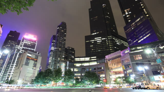 Time lapse of NYC: 59th St and Columbus circle video