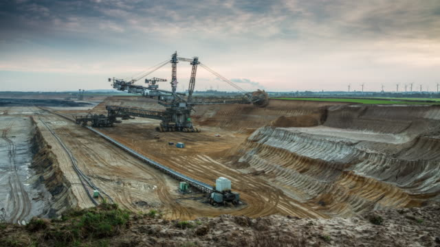 Time lapse of Open-pit coal mining