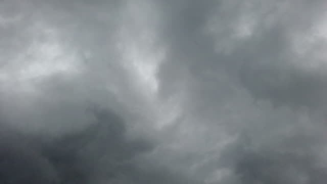 Time lapse of overcast stormy sky with clouds blown by the wind video