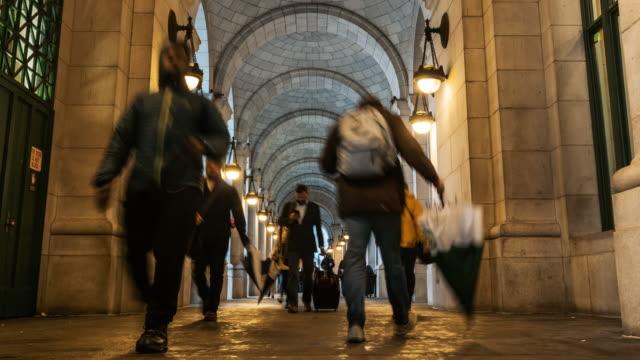 Time lapse of Pedestrians walking at Washington DC, United States