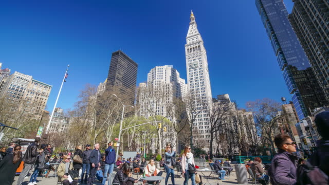 Time lapse of people and New York city video