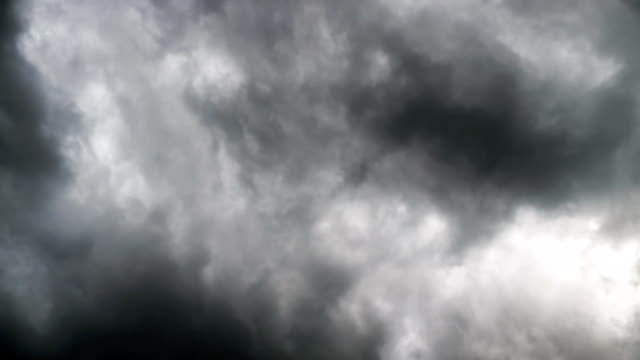 Time lapse of rain clouds over the sky video