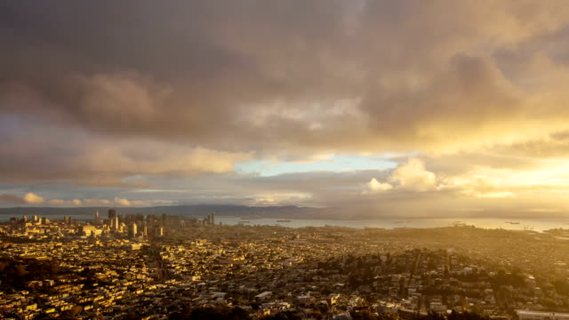 Time Lapse of San Francisco going from night to day video