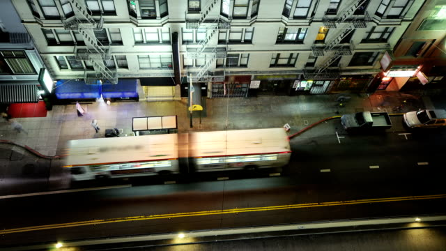 Time lapse of San Francisco street at night video