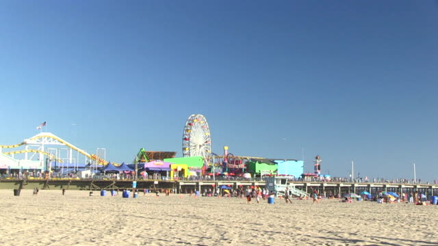 Time lapse of Santa Monica pier video