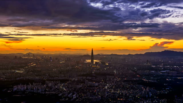 Time lapse of Seoul City Skyline,South Korea. Time lapse of Seoul City Skyline,South Korea. gyeongbokgung stock videos & royalty-free footage