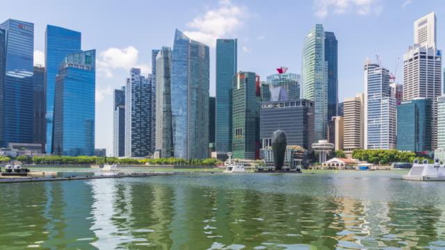 Time lapse of Singapore City Skycraper at Marina bay sands,Singapore video