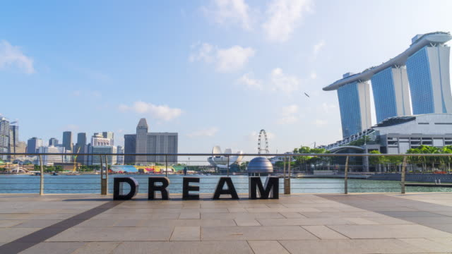 Time lapse of Singapore City Skyline at Marina bay sand in Singapore. video