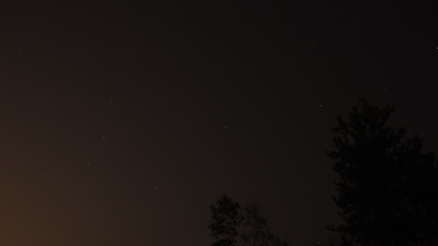 Time lapse of stars moving through night sky video