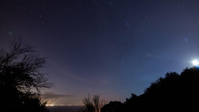 vídeos y material grabado en eventos de stock de lapso de tiempo de las estrellas girando alrededor de la estrella del polo - estrella del norte
