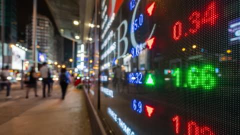 vidéos et rushes de 4k time lapse of stock market and exchange information (en) - chinois