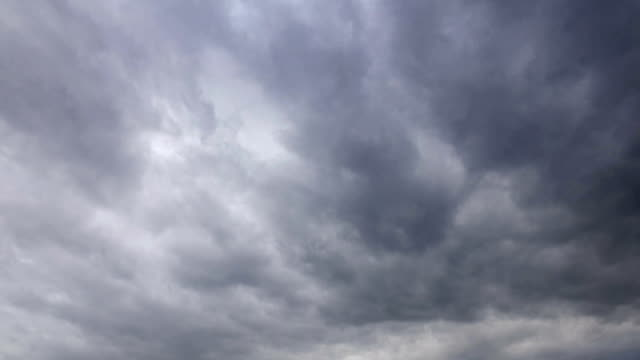 time lapse of storm and rain gray clouds moving fast - grandine video stock e b–roll