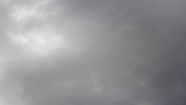 4K zaman atlamalı fırtına bulutların hızlı hareket video