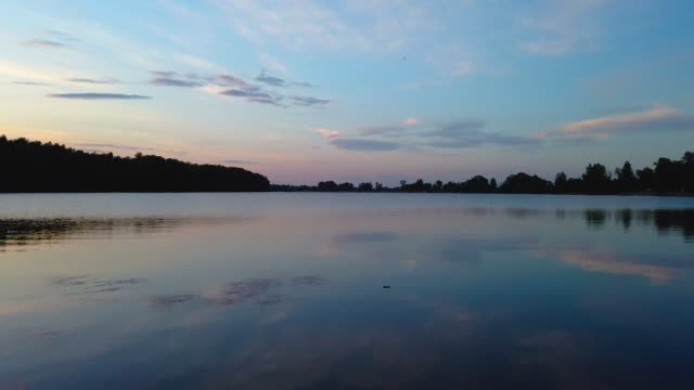 Time lapse of summer evening Ob river Time lapse of summer evening Ob river, Altai krai siberia stock videos & royalty-free footage