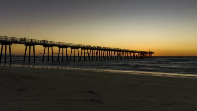 Time Lapse of Sunset at a California Beach