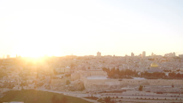 Time lapse of sunset over the Temple mount in old city Jerusalem video